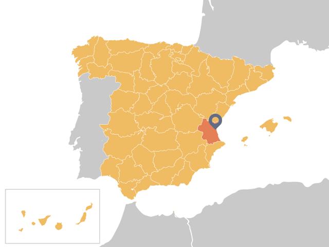 Ubicación mapa Valencia